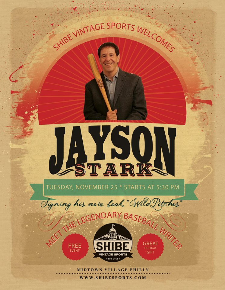 Jayson Stark to Make Appearance at Shibe Sports