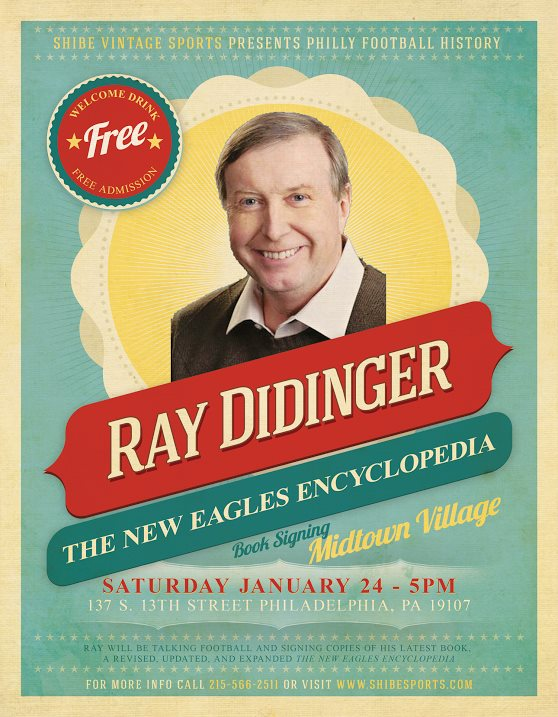 Ray Didinger to Speak at Shibe Next Saturday