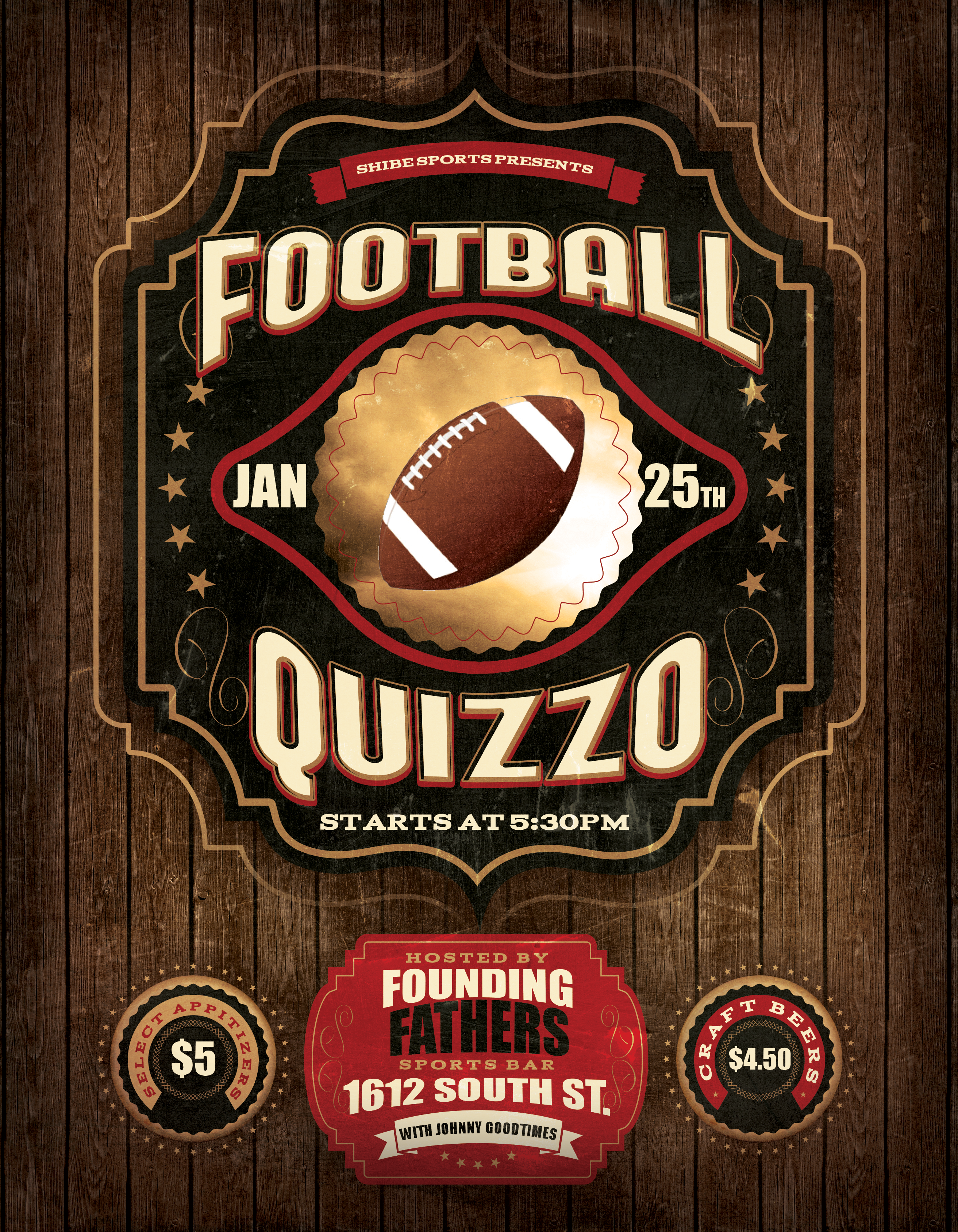 All Football Quizzo on Sunday!