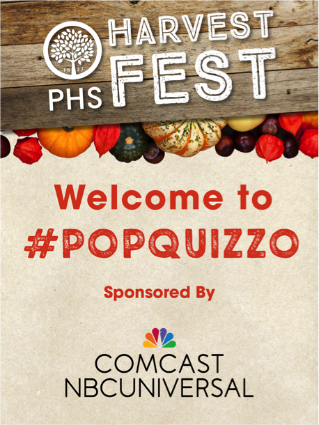 PHS Harvest Fest Kicks Off With Two Quizzes on Thursday!