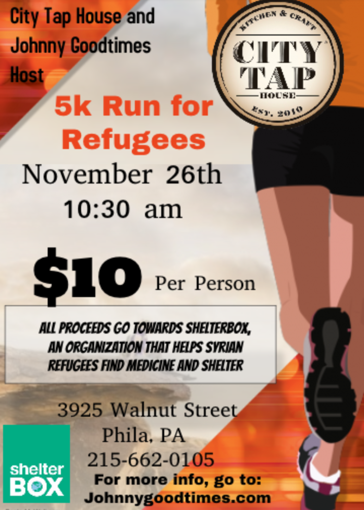 5K Run for Refugees on Saturday