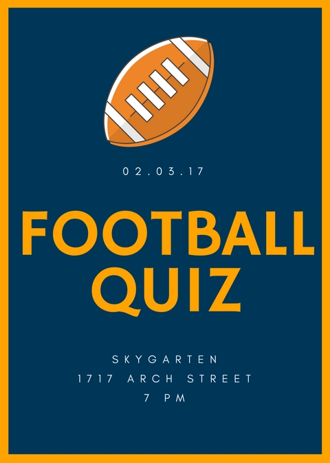 All Football Quiz on Friday!