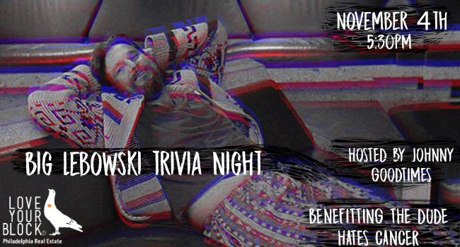Big Lebowski Quiz/Bowling on November 4th!