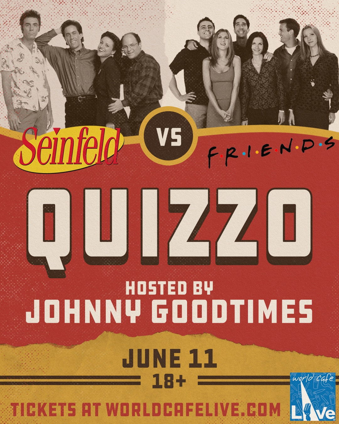 Three of Philly's Funniest Comedians to Perform at Seinfeld vs Friends Quiz