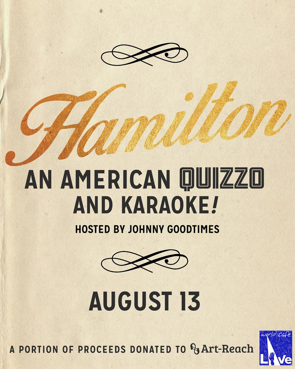 Hamilton Quizzo and Karaoke on Tuesday!